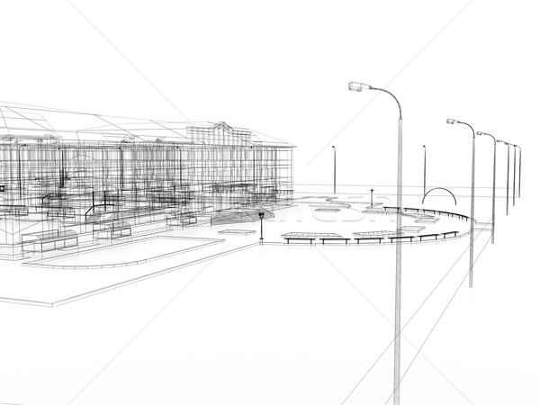 Abstract archticture Stock photo © cherezoff