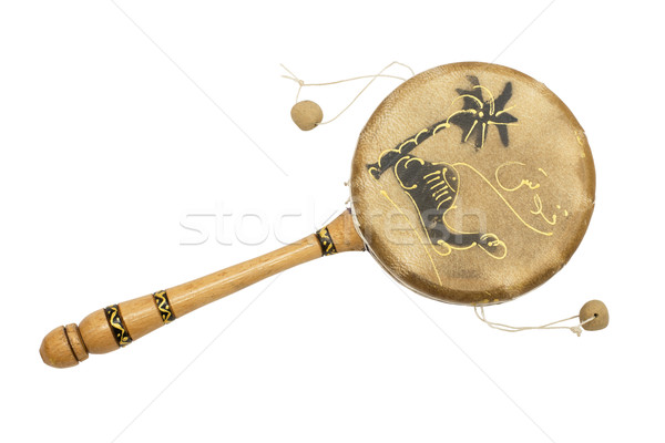 Small drum made of wood and leather Stock photo © cherezoff