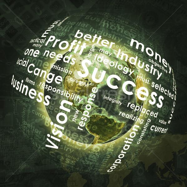 Zdjęcia stock: Ziemi · sferze · działalności · słowa · wykresy · ceny