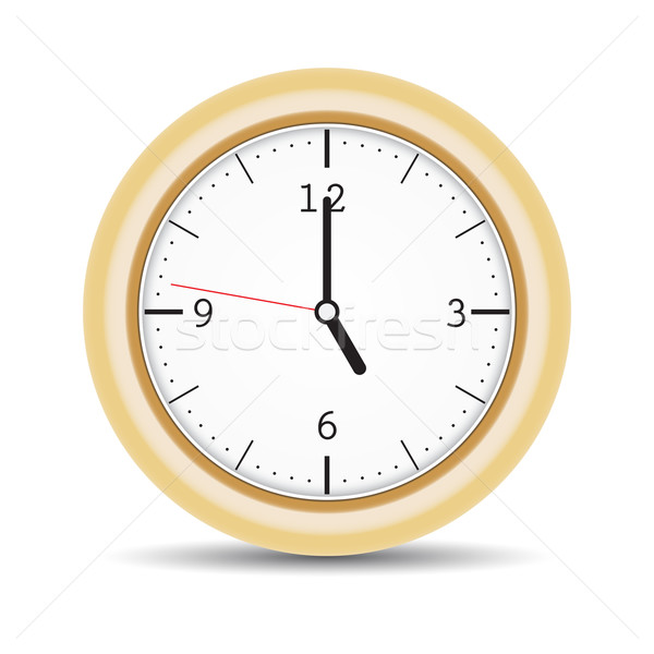 Round clock with brown frame and numbers Stock photo © cherezoff