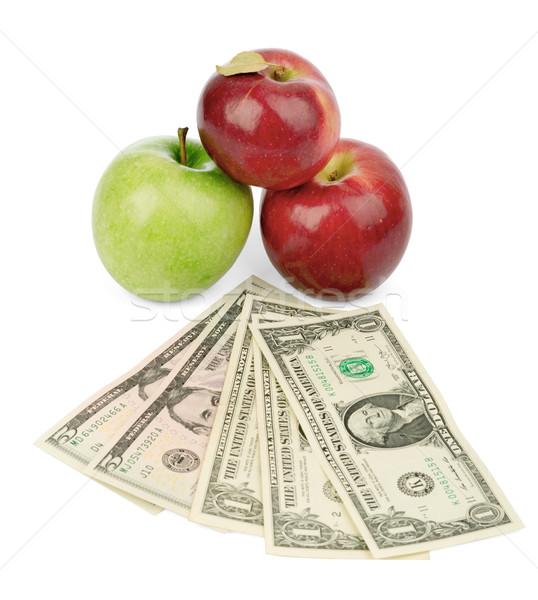 Vers appels geld geïsoleerd witte Stockfoto © cherezoff