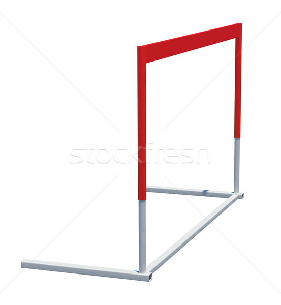 Treadmill barrier on white, sport concept Stock photo © cherezoff