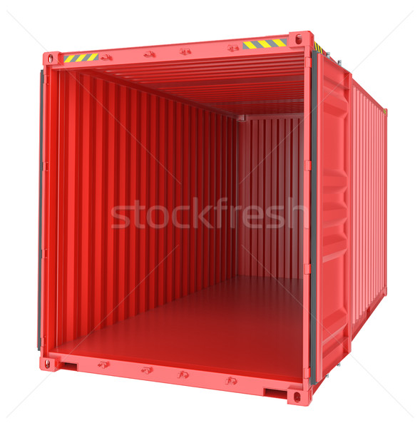 Freight shipping, open empty cargo container Stock photo © cherezoff