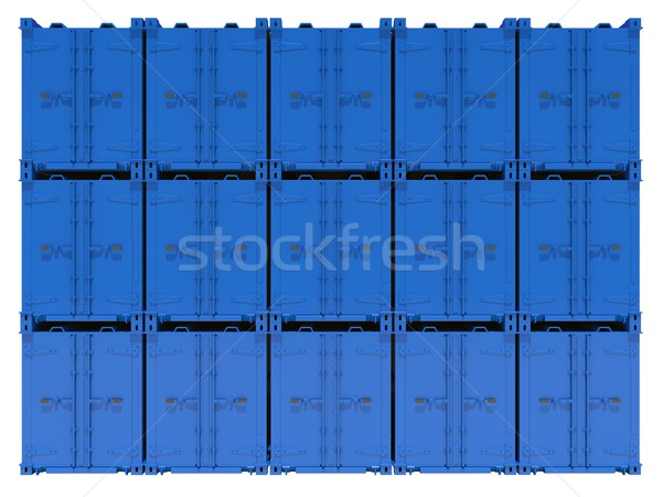 Blue containers Stock photo © cherezoff