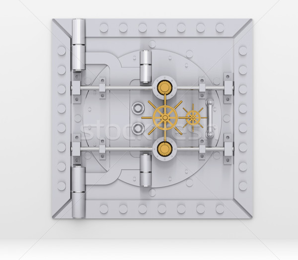 Bank vault door on gray wall Stock photo © cherezoff