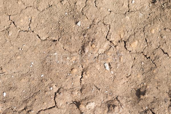 Kahverengi zemin çatlaklar doku Stok fotoğraf © cherezoff