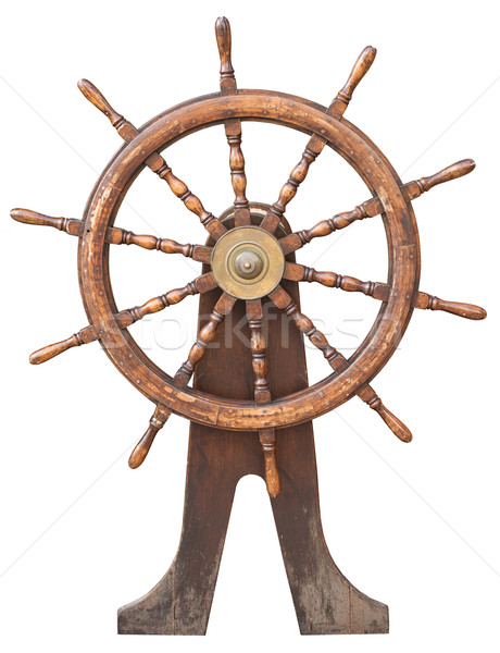 Steering wheel on white Stock photo © cherezoff