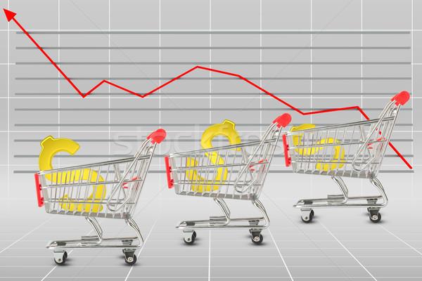 Dollar sign in shopping cart Stock photo © cherezoff