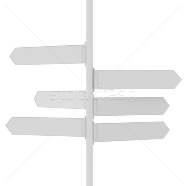 Richting borden exemplaar ruimte 3D abstract Stockfoto © cherezoff