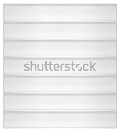 Stok fotoğraf: Boş · beyaz · kitaplık · yalıtılmış · 3d · illustration · iş