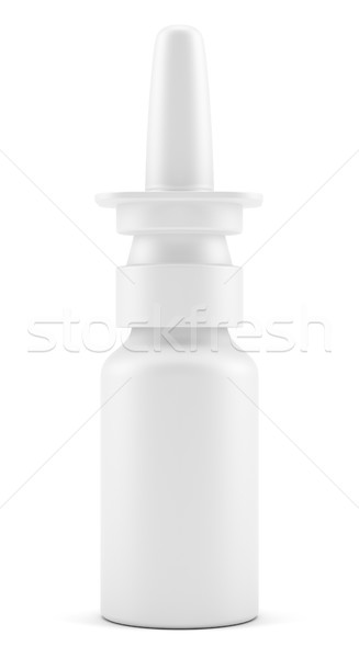 Spray medische drugs plastic fles 3d illustration Stockfoto © cherezoff
