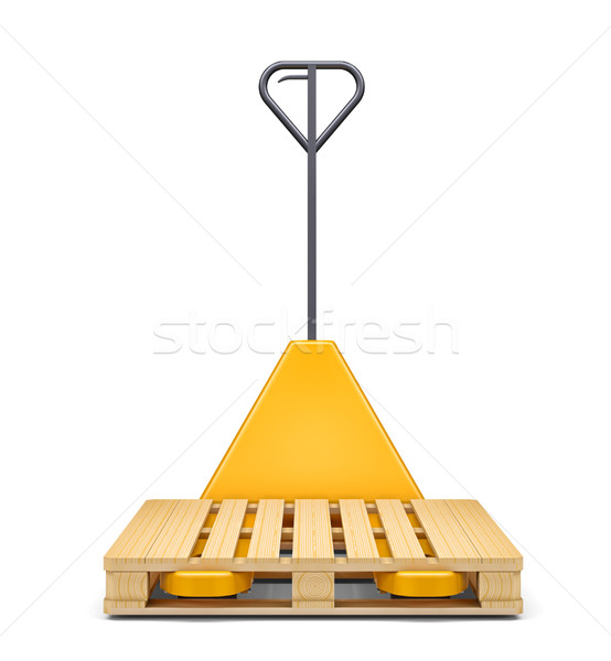 Hydraulic hand pallet truck wit isolated on white Stock photo © cherezoff