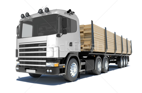 Truck transporting lumber Stock photo © cherezoff