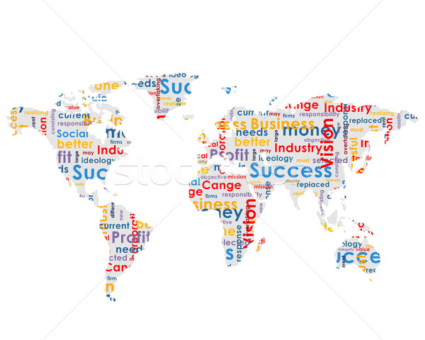 World map with business words Stock photo © cherezoff