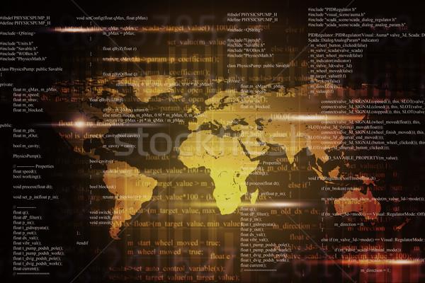 Streszczenie matrycy kolorowy świat Zdjęcia stock © cherezoff