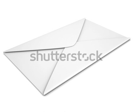 Open blank paper booklet, side view Stock photo © cherezoff