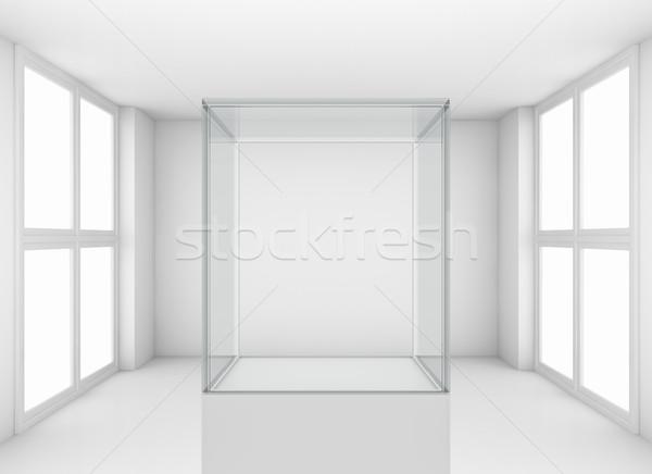 Showcase in white room with windows Stock photo © cherezoff