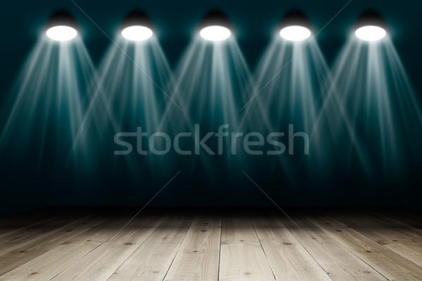 Fapadló copy space absztrakt fény űr fekete Stock fotó © cherezoff
