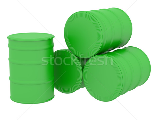 Green barrels natural fuel Stock photo © cherezoff