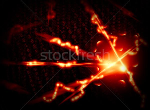 Izzó digitális kód sötét üzlet technológia Stock fotó © cherezoff
