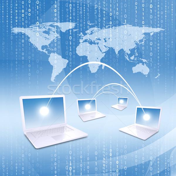 世界地図 ネットワーク ビジネス インターネット ストックフォト © cherezoff