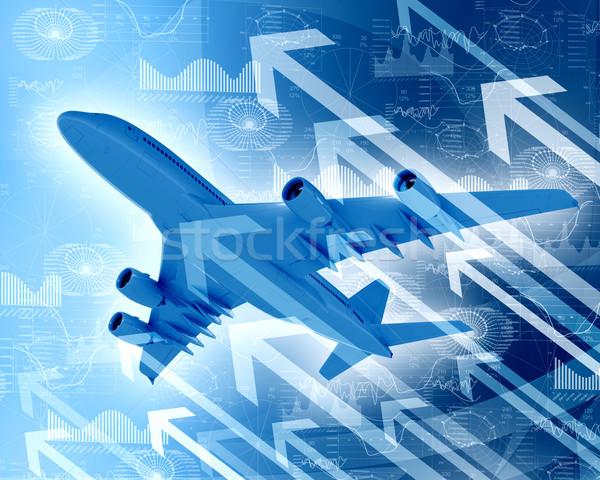Aereo grafici frecce crescita business soldi Foto d'archivio © cherezoff