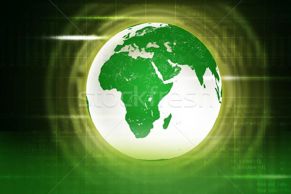 Absztrakt zöld Föld számok elemek kép Stock fotó © cherezoff