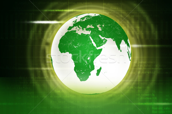Resumen verde tierra números elementos imagen Foto stock © cherezoff