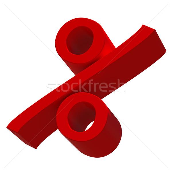 Red percent sign Stock photo © cherezoff