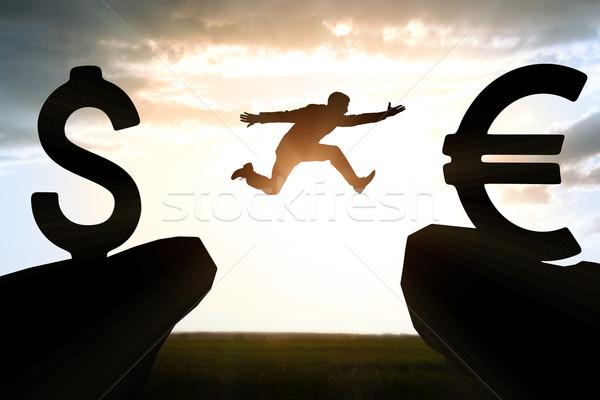 Affaires abîme dollar affaires fond montagne Photo stock © cherezoff