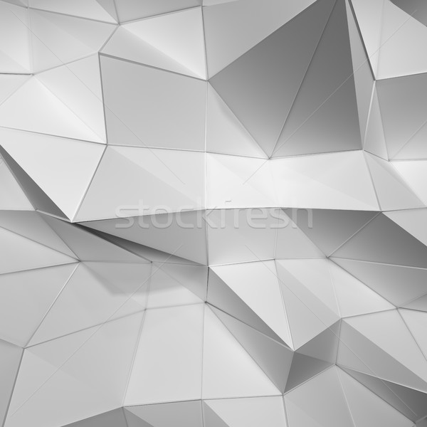 Mooie witte driehoek abstract 3d illustration sjabloon Stockfoto © cherezoff