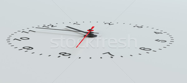Clock face perspective view Stock photo © cherezoff