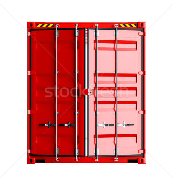 Dienst levering Rood vracht container 3D Stockfoto © cherezoff