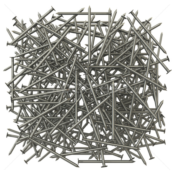 A lot of metal nails. The effect of depth of field Stock photo © cherezoff
