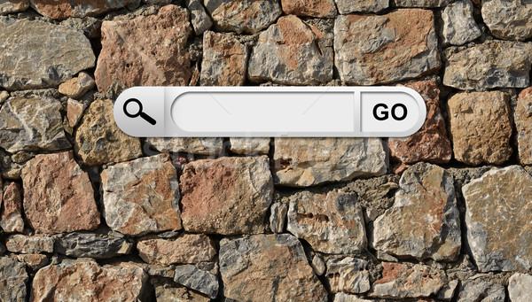 поиск Бар браузер стены природного кирпича Сток-фото © cherezoff