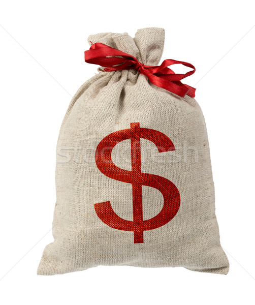 Money bag with red band Stock photo © cherezoff