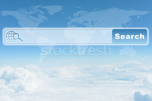 Cielo azul nubes navegador naturaleza mapa del mundo cielo Foto stock © cherezoff