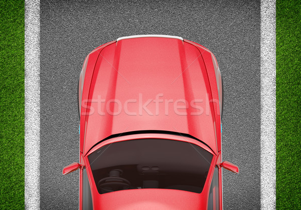 Car on grey and green texture background Stock photo © cherezoff