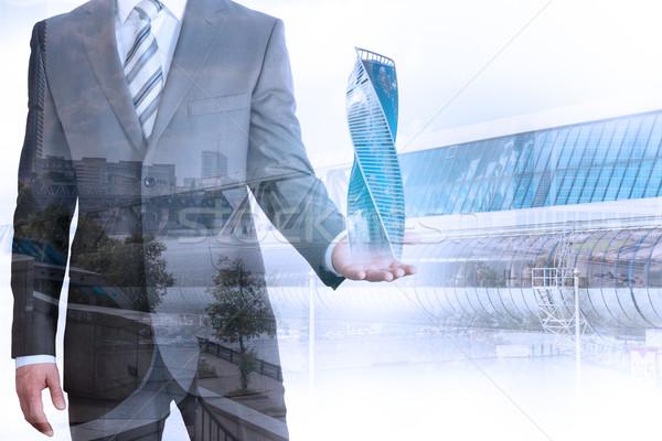 Сток-фото: бизнесмен · 3D · город · модель · Cityscape