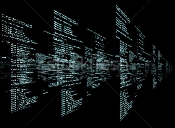 行列 黒 青 シンボル コード ビジネス ストックフォト © cherezoff