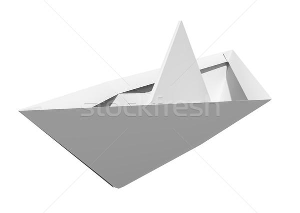 Origami paper boat Stock photo © cherezoff