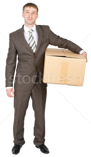 Deliveryman keeps parcel Stock photo © cherezoff