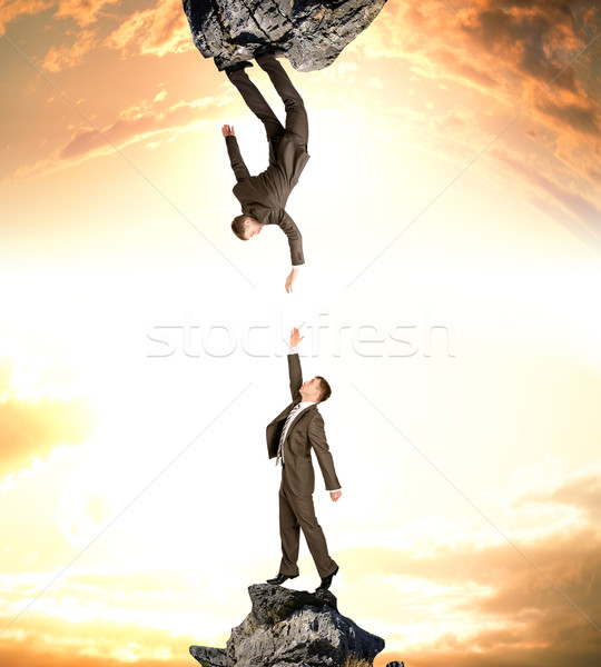 Two businessmen attracted to each other Stock photo © cherezoff