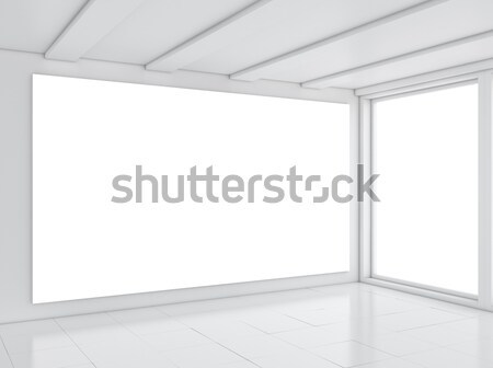Vide blanche chambre minimalisme style 3d illustration Photo stock © cherezoff