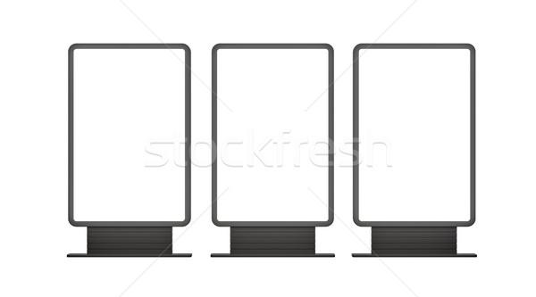 Vertical blank outdoor Lightboxes Stock photo © cherezoff