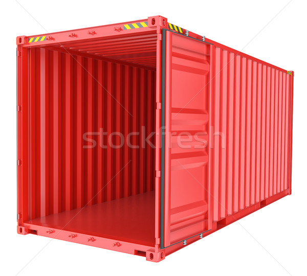 Open shipping container isolated on white Stock photo © cherezoff