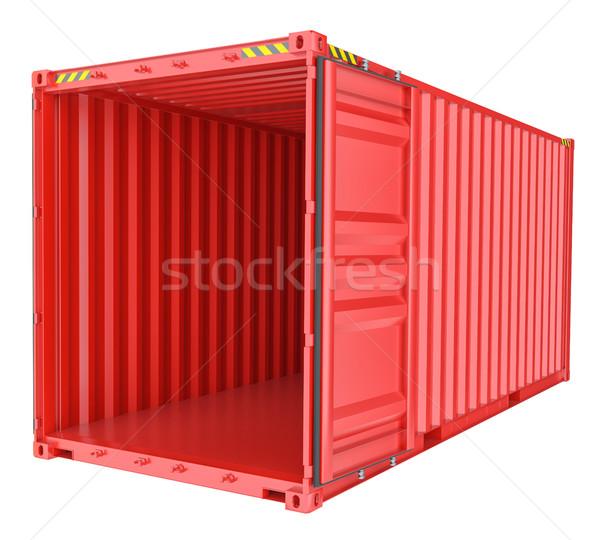 Abierto envío contenedor aislado blanco 3D Foto stock © cherezoff