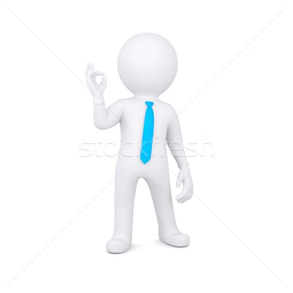 3D biały człowiek odizolowany oddać biały Zdjęcia stock © cherezoff