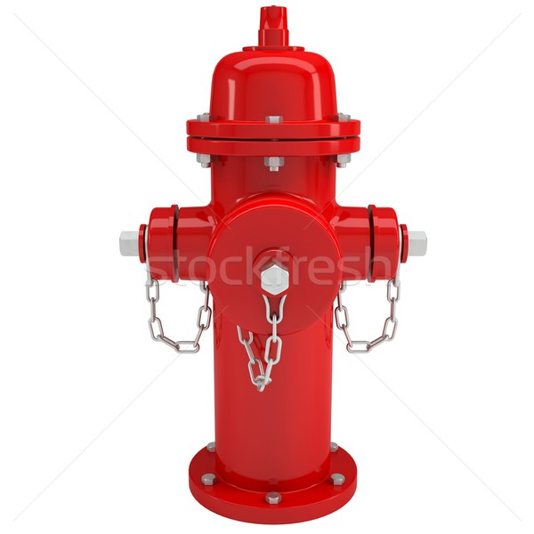Red fire hydrant Stock photo © cherezoff