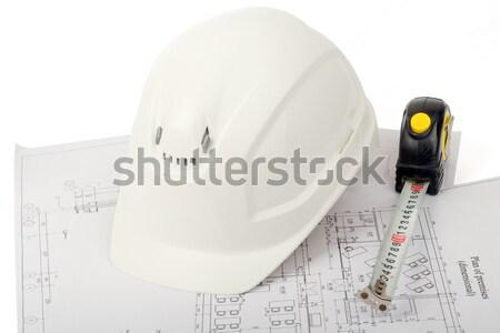 Elektrische schroevendraaier helm grijs Stockfoto © cherezoff